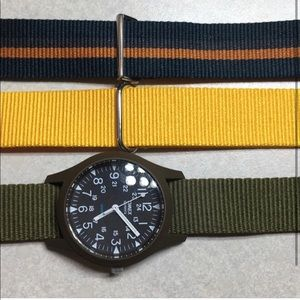 Timex watch with extra straps